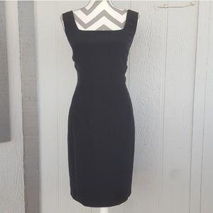 Jones New York Sleeveless Black Sheath Dress